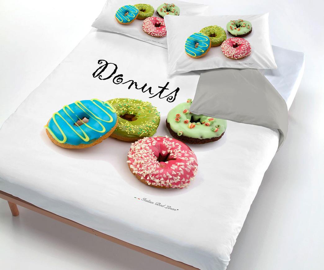 Copripiumino Macarons.Parure Copripiumino 1 P E Mezza Donuts Duzzle