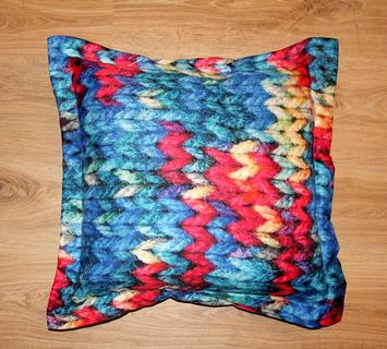 Cuscino arredo maglia colorata 608