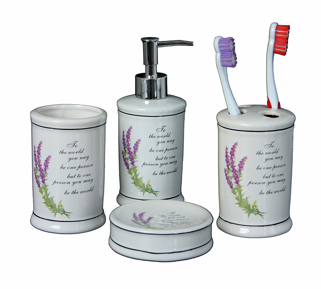 Set bagno lavanda duzzle for Amazon cassettiere bagno