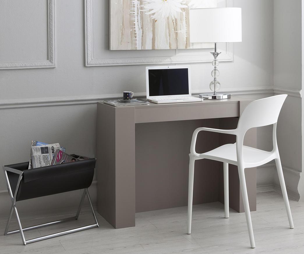 Tavolo consolle allungabile adam tortora duzzle for Ikea consolle allungabili