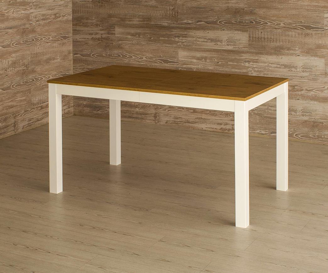 Tavolo Bianco In Legno tavolo allungabile target in legno di faggio rovere/bianco (130/210 x 80 cm)