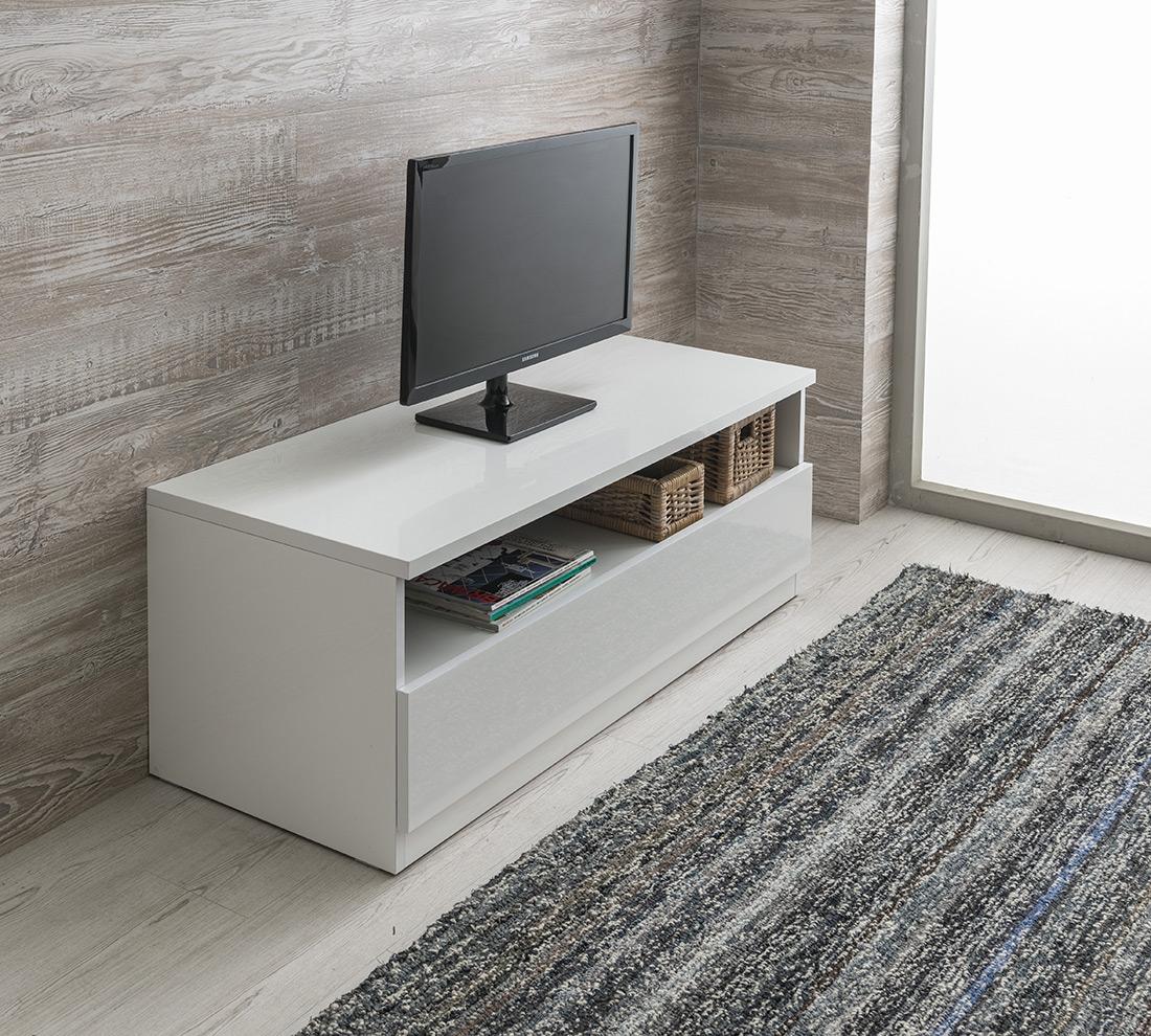Porta tv jolly laccato bianco duzzle for Mobile tv dwg