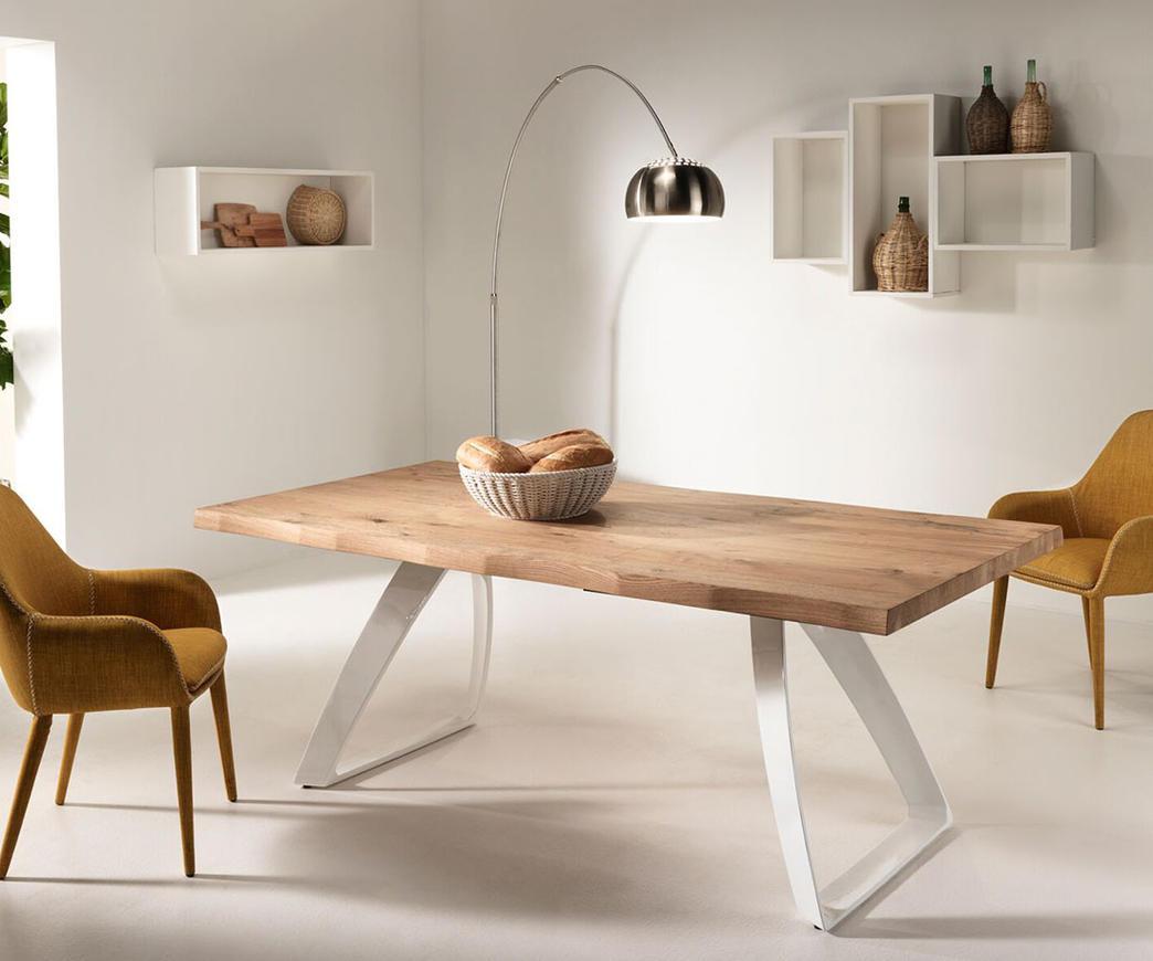 Tavolo da pranzo allungabile Bridge base bianca (fino a 300 cm) | Duzzle