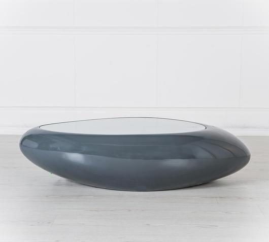 Duzzle tavolinetto da salotto con luci led stones grigio