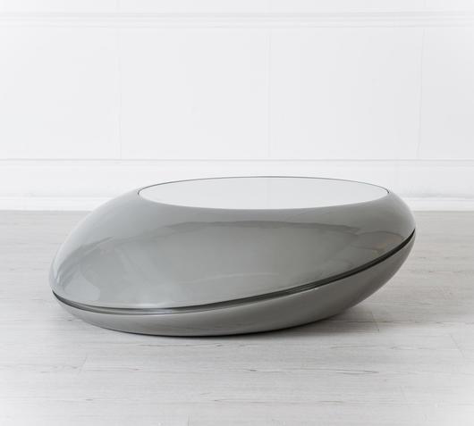 Duzzle tavolinetto da salotto bowl con luci led stones laterale