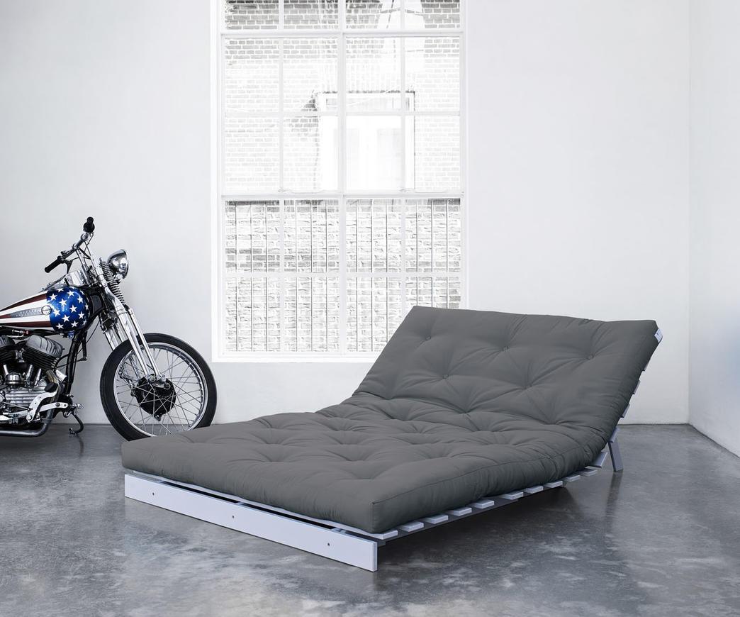 Divano letto roots 140 cm karup grigio chiaro struttura for Divano letto 140