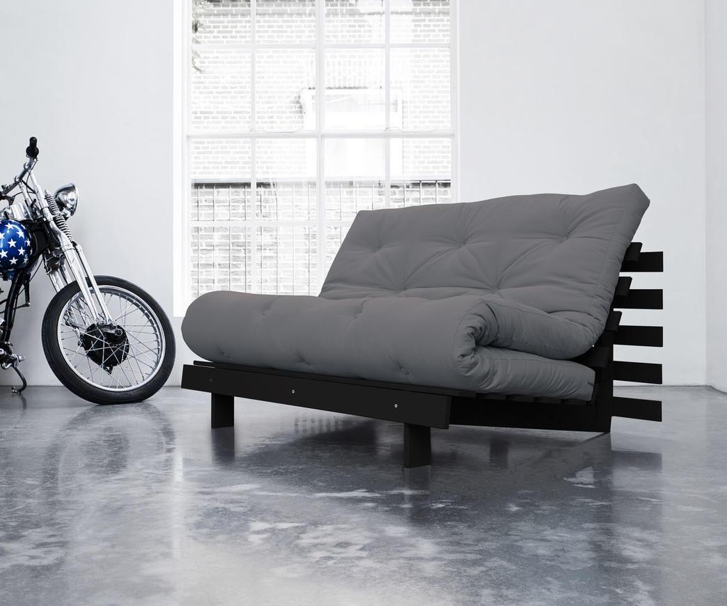 Divano letto roots 140 cm karup grigio chiaro struttura weng duzzle - Divano letto larghezza 140 cm ...