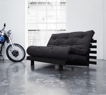 Duzzle divano letto roots 140 nero grigio scuro