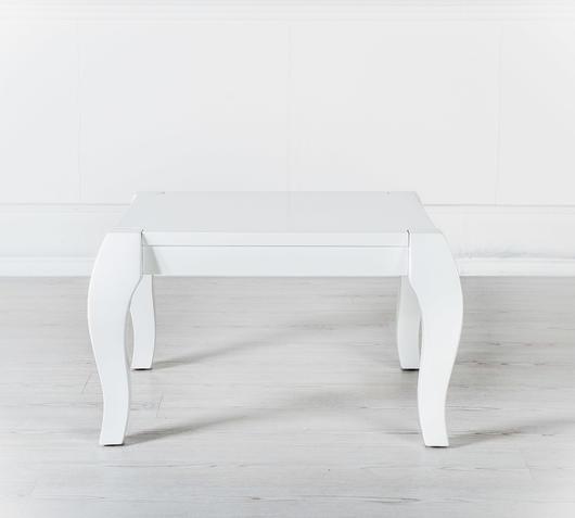 Duzzle tavolinetto shining bianco quadrato stones frontale