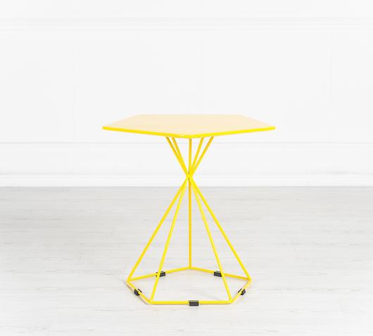 Duzzle tavolinetto da salotto stones giallo frontale