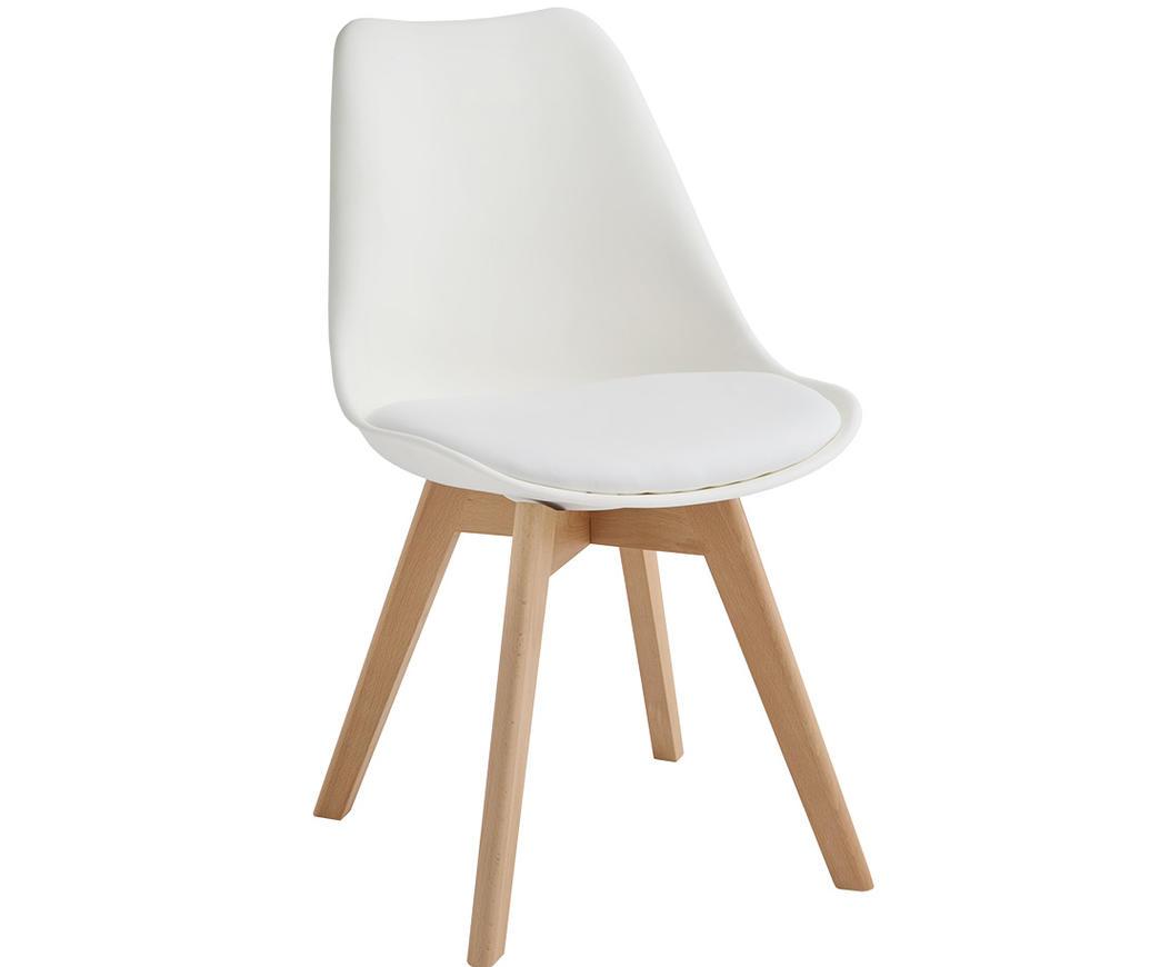 sedia stile nordico carlotta bianca duzzle