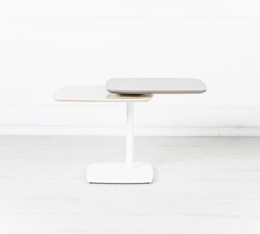 Duzzle tavolinetto ripiano girevole stones grigio cappuccino aperto