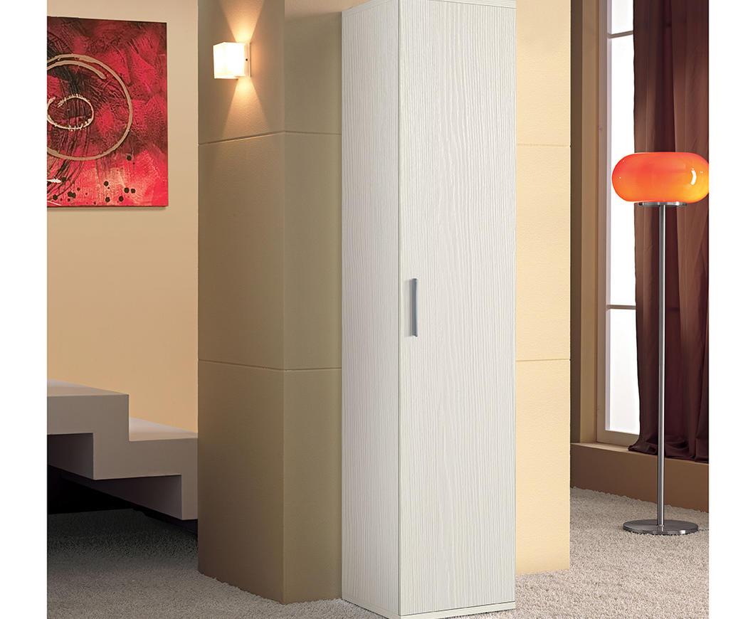 Colonna nilo5 1 anta bianco graffiato duzzle for Arredo bagno colonna
