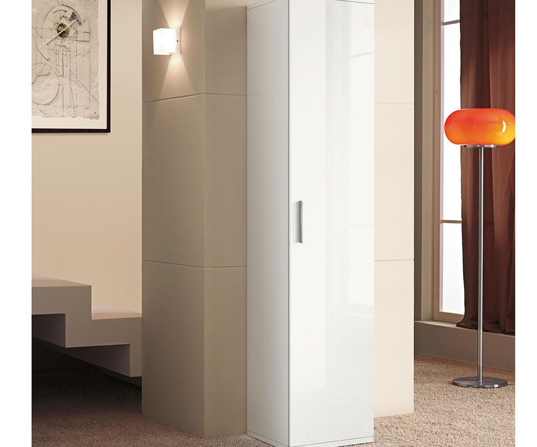 Colonna nilo5 1 anta bianco laccato duzzle for Arredo bagno colonna