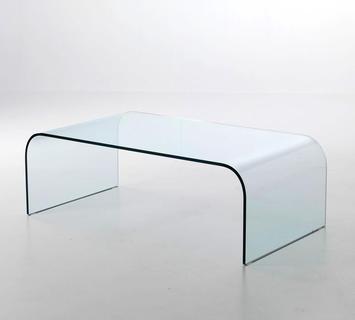 Tavolino ponte vetro curvato 110 golden gate
