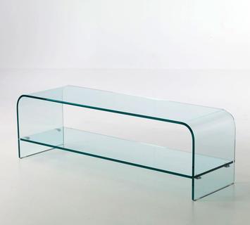 Porta tv vetro curvato londra