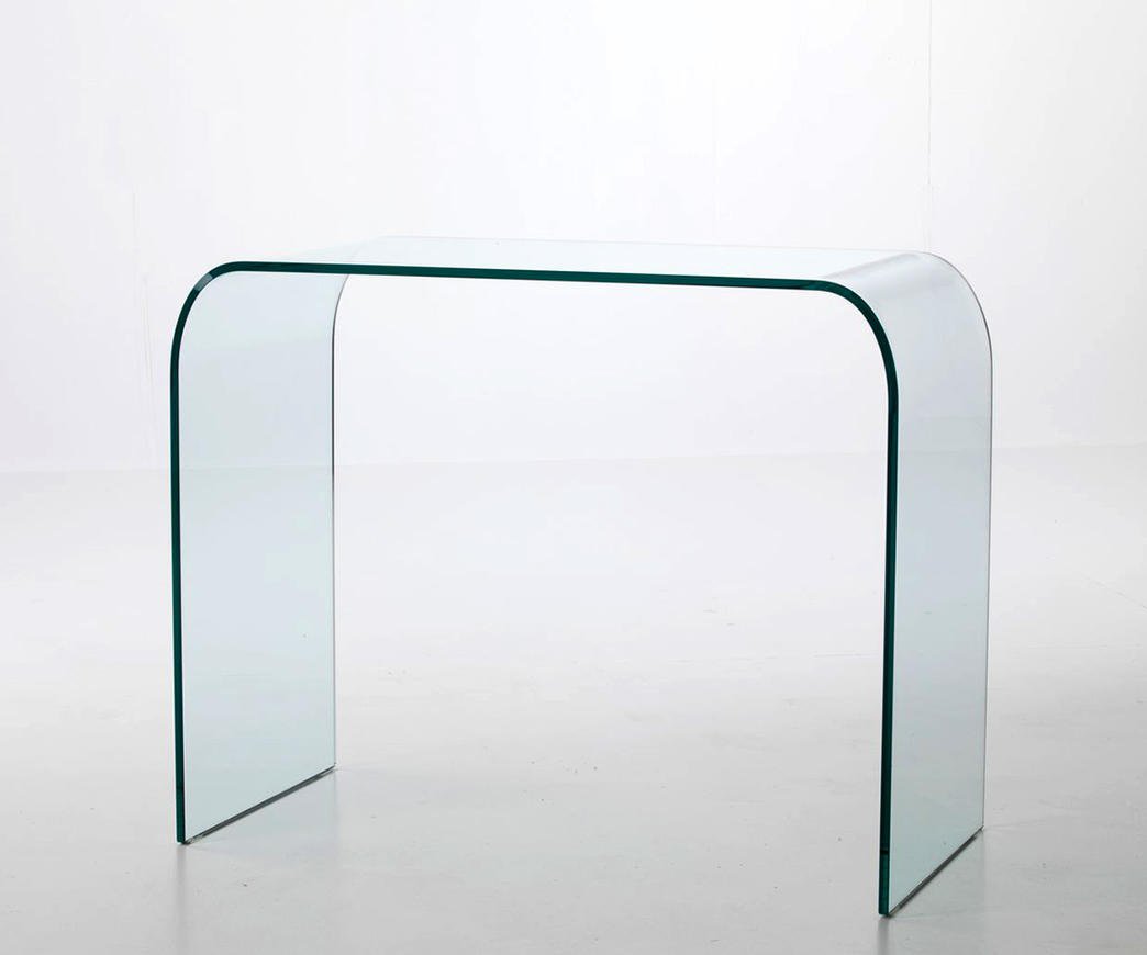 Consolle in vetro curvo parigi ebay for Consolle in vetro