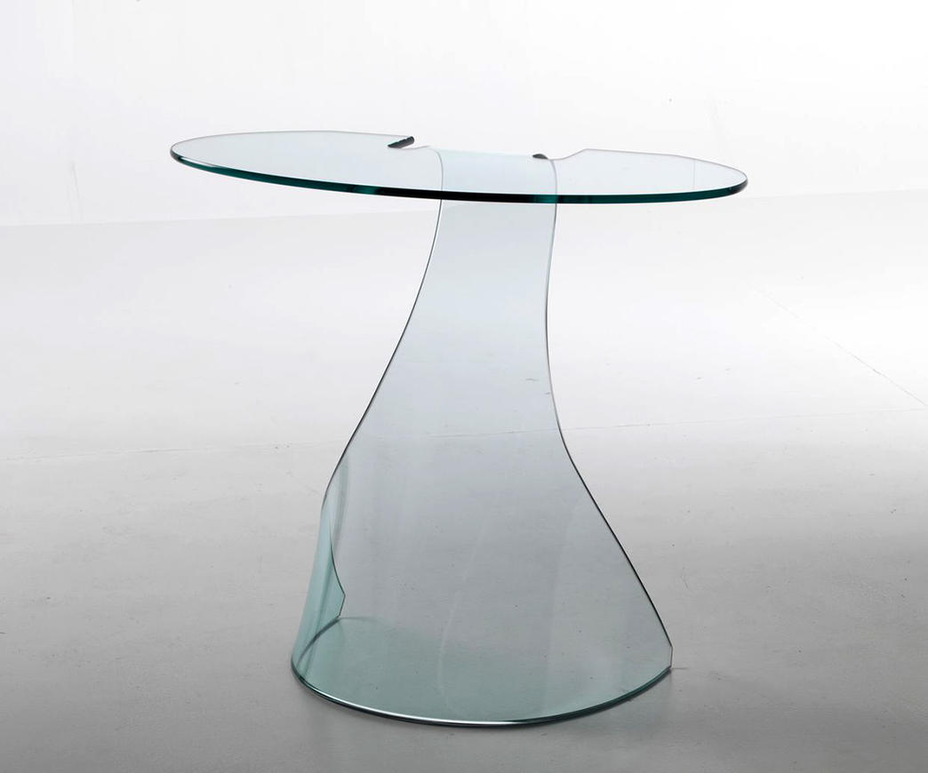 Tavolino alto in vetro peonia duzzle for Tavolini vetro