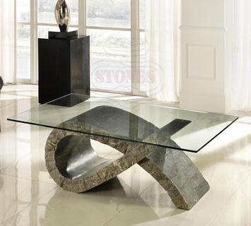 Duzzle tavolino fiocco pietra grigia stones