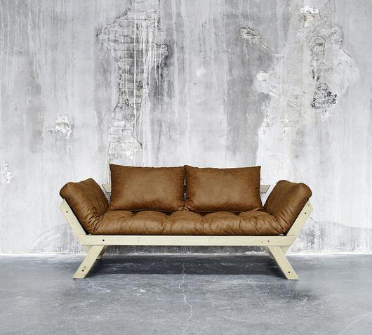 Duzzle divano letto bebop vintage karup cognac natural