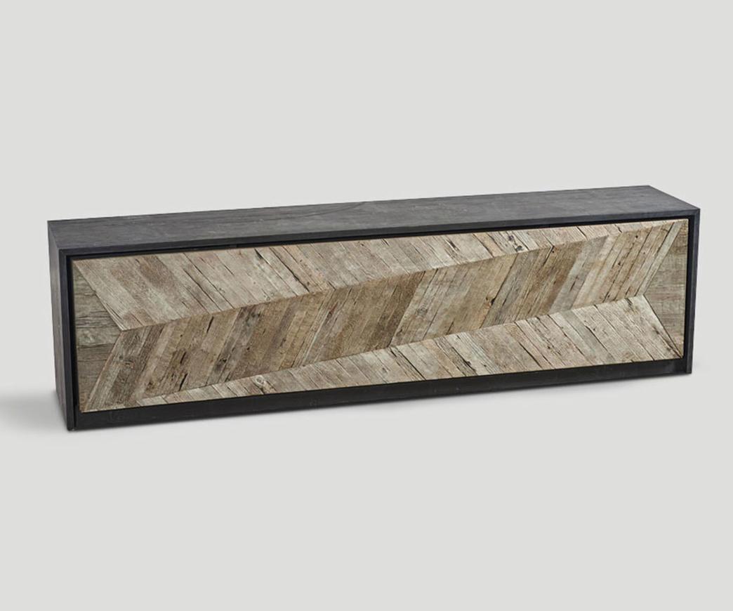 Credenza Per Esterno In Legno : Credenza in legno invecchiato lavagna natural duzzle