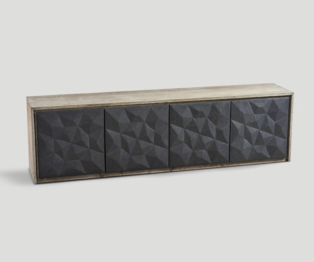 Credenza Per Esterno In Legno : Credenza porte in legno invecchiato lavagna natural duzzle
