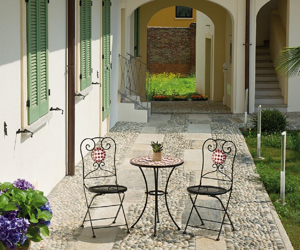 Sedia mosaico da giardino chm duzzle