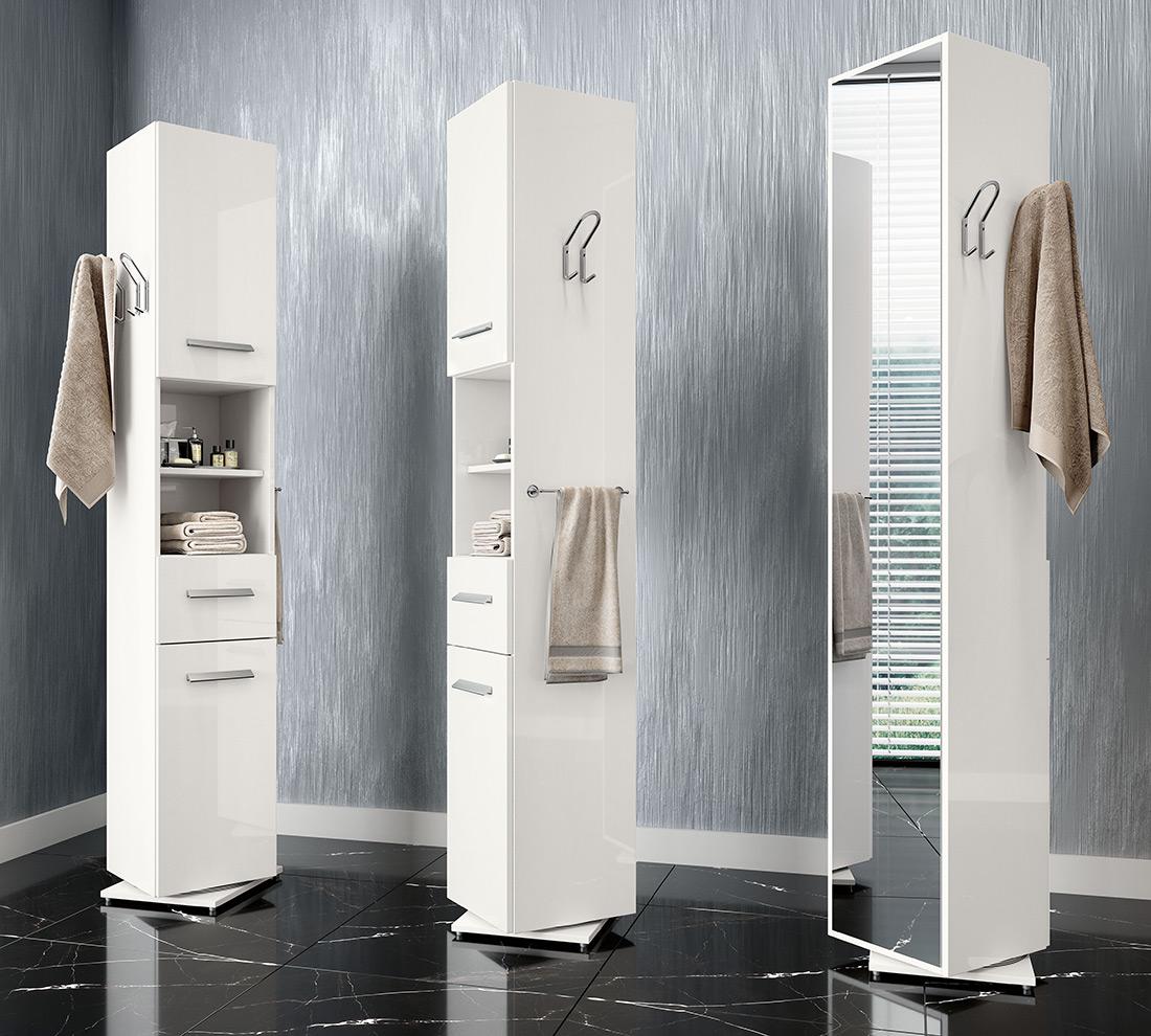 Colonna girevole brasile bianco laccato duzzle - Mobiletti a colonna per bagno ...