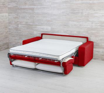 Duzzle divano letto marsiglia rosso
