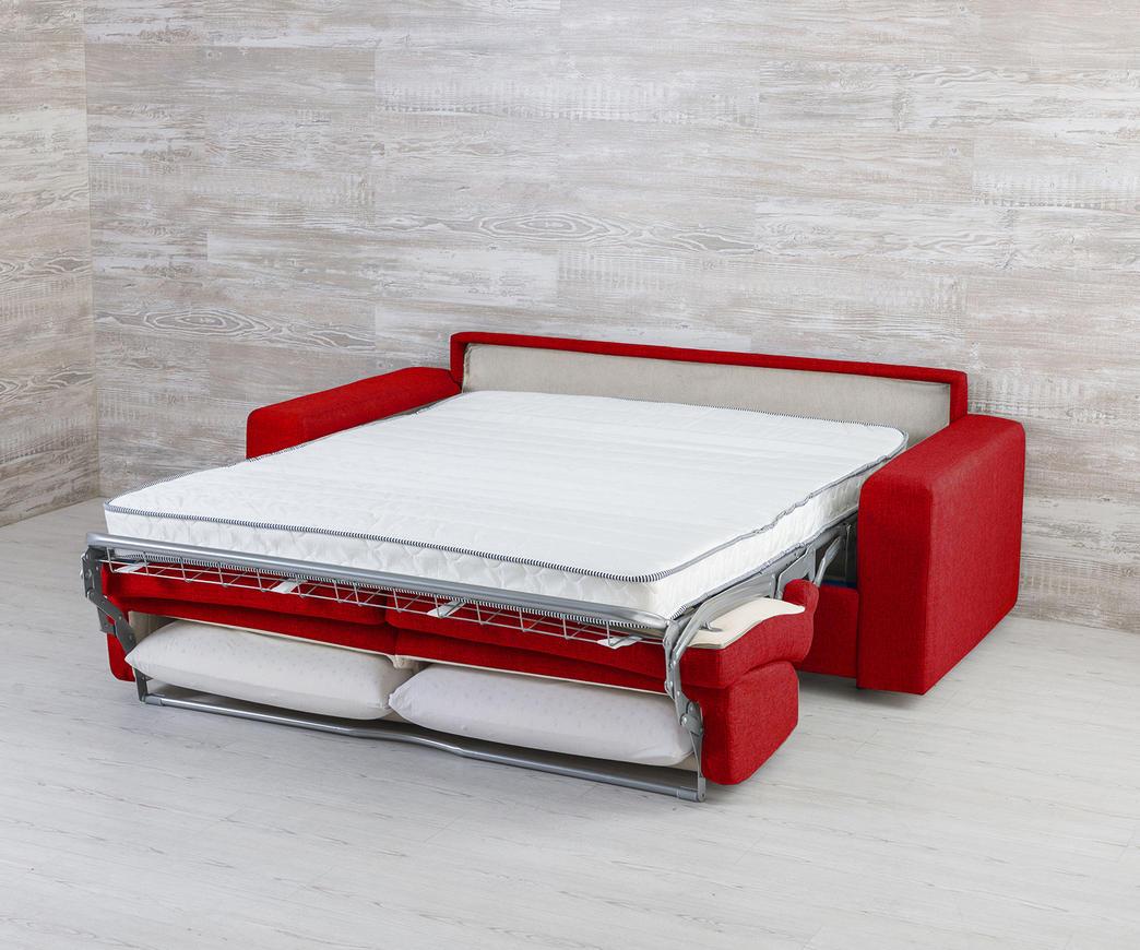 Divano trasformabile in letto marsiglia rosso duzzle for Divano letto trasformabile