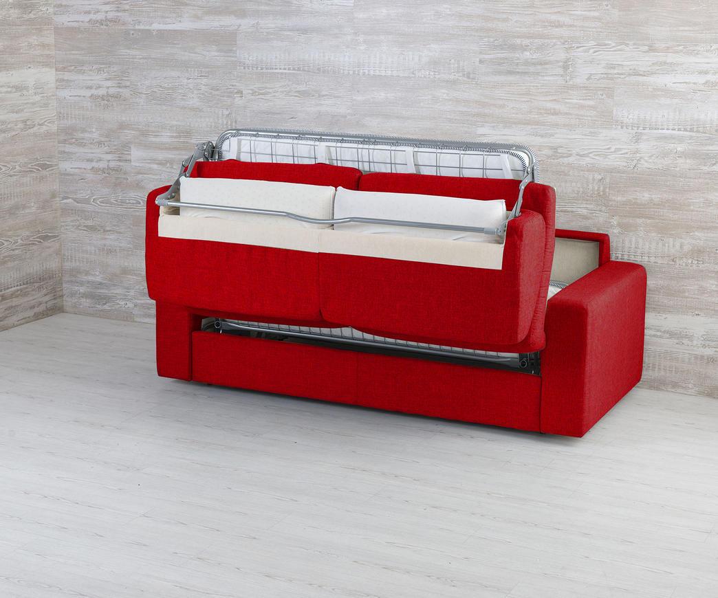 Divano trasformabile in letto Marsiglia Rosso | Duzzle