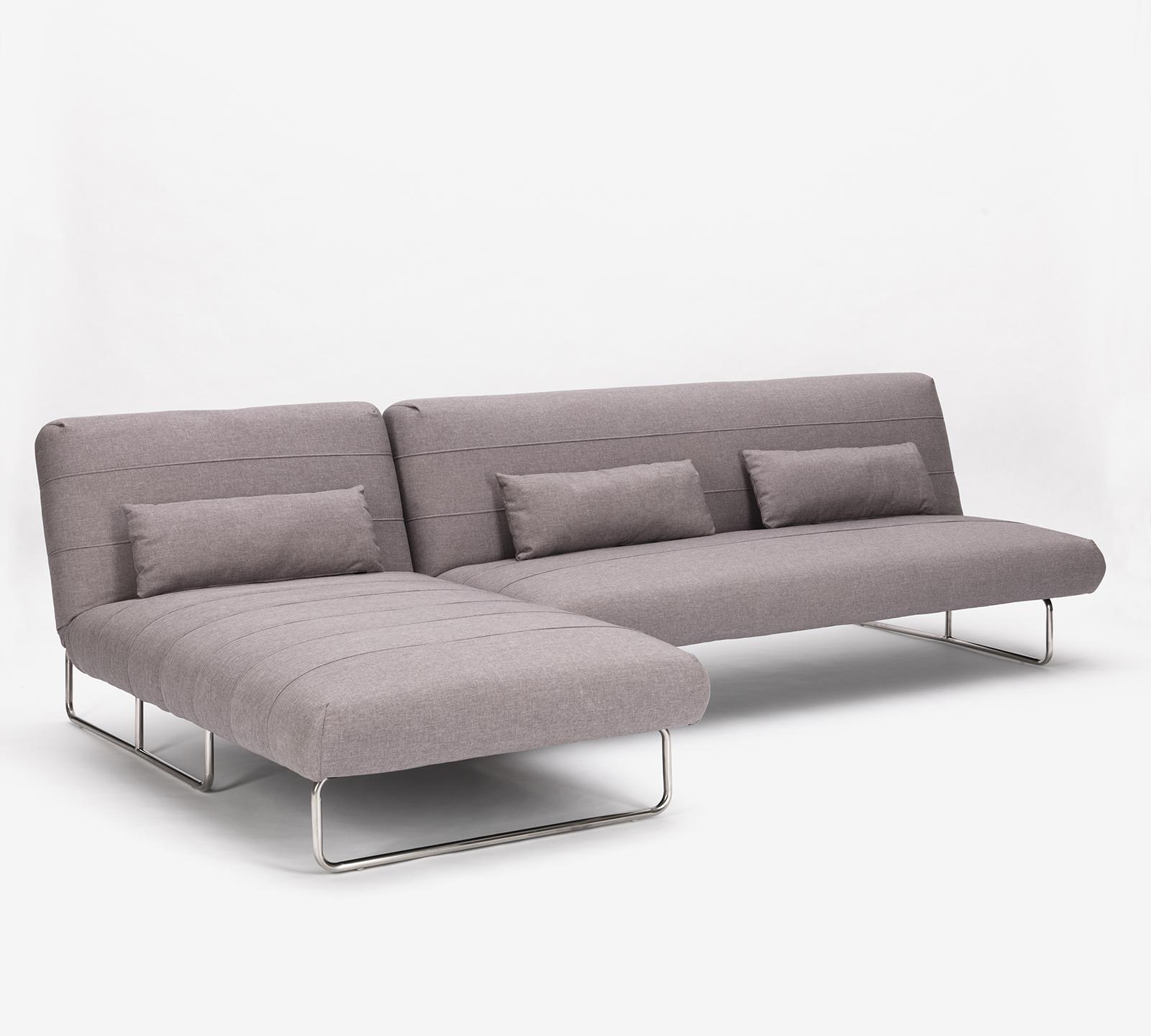 Divano letto napoleon in tessuto grigio chiaro duzzle for Divano letto costo