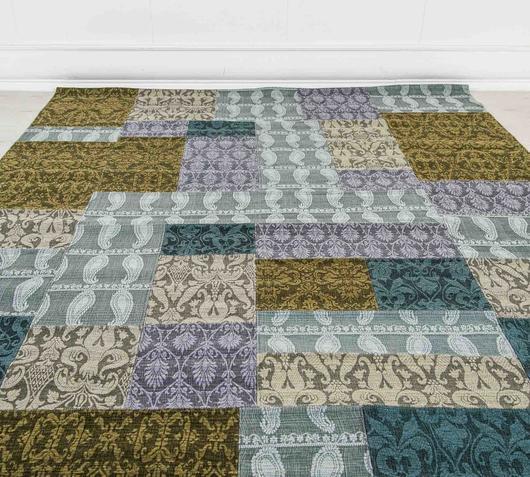 Duzzle tappeto realizzato a mano scacchi stones dettaglio