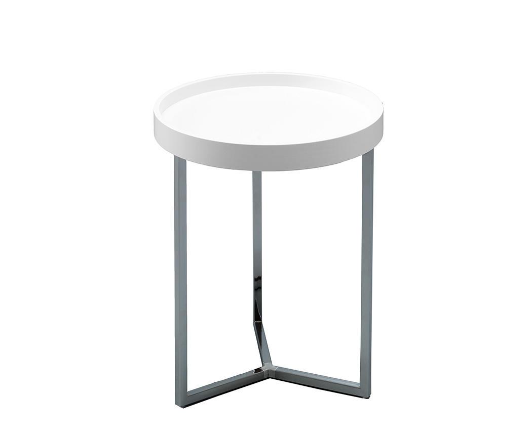 Tavolino Con Vassoio Asportabile.Tavolinetto Con Vassoio Antares Bianco