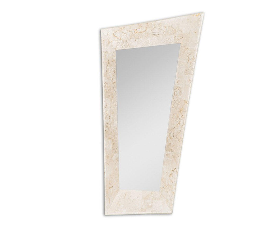Specchio vertical con cornice in pietra bianca fs 164 wa a - Specchio cornice bianca ...