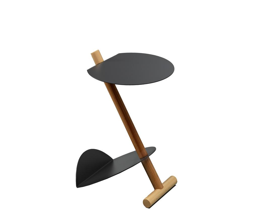 Tavolino Portariviste Legno.Tavolino Porta Riviste In Metallo E Legno Vega Antracite