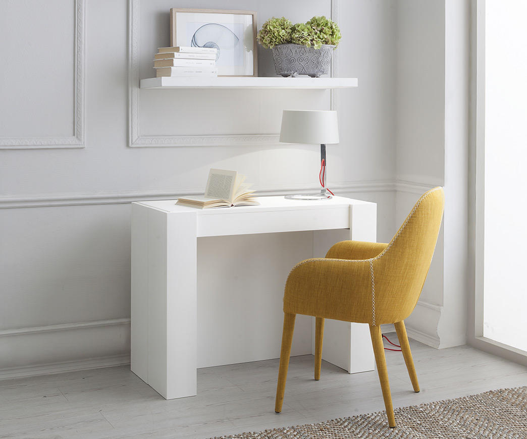 tavolo consolle allungabile adam frassino bianco duzzle