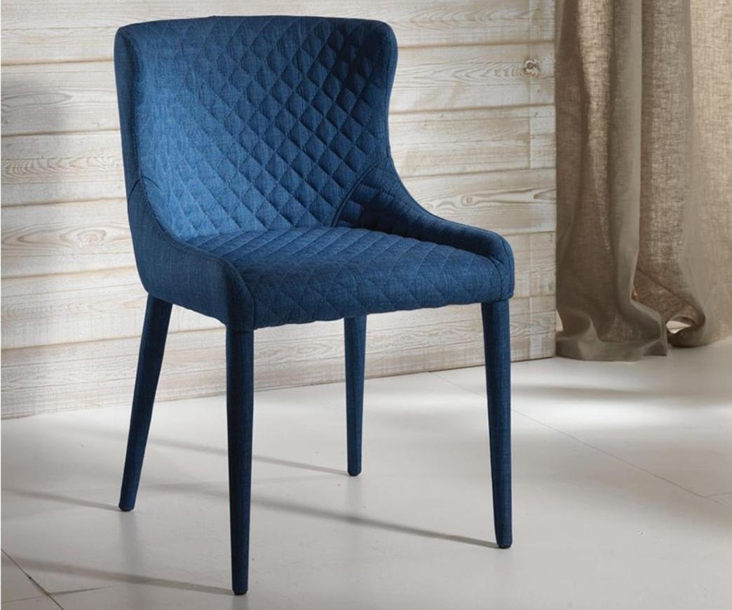 Sedia imbottita afrodite blu om 224 bl duzzle for Sedie blu cucina