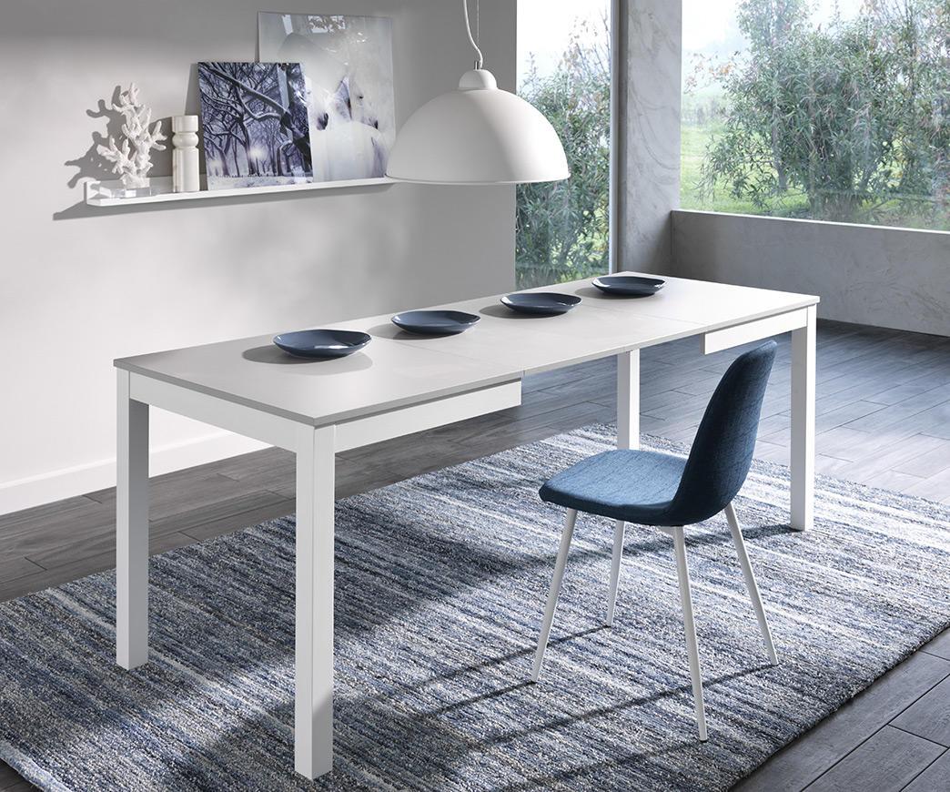 Tavolo allungabile target 130x80 grigio bianco duzzle for Tavolo vetro allungabile amazon