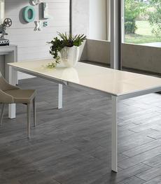 Tavoli sala da pranzo moderni anche salvaspazio con sedie - Tavolo account bianco ...