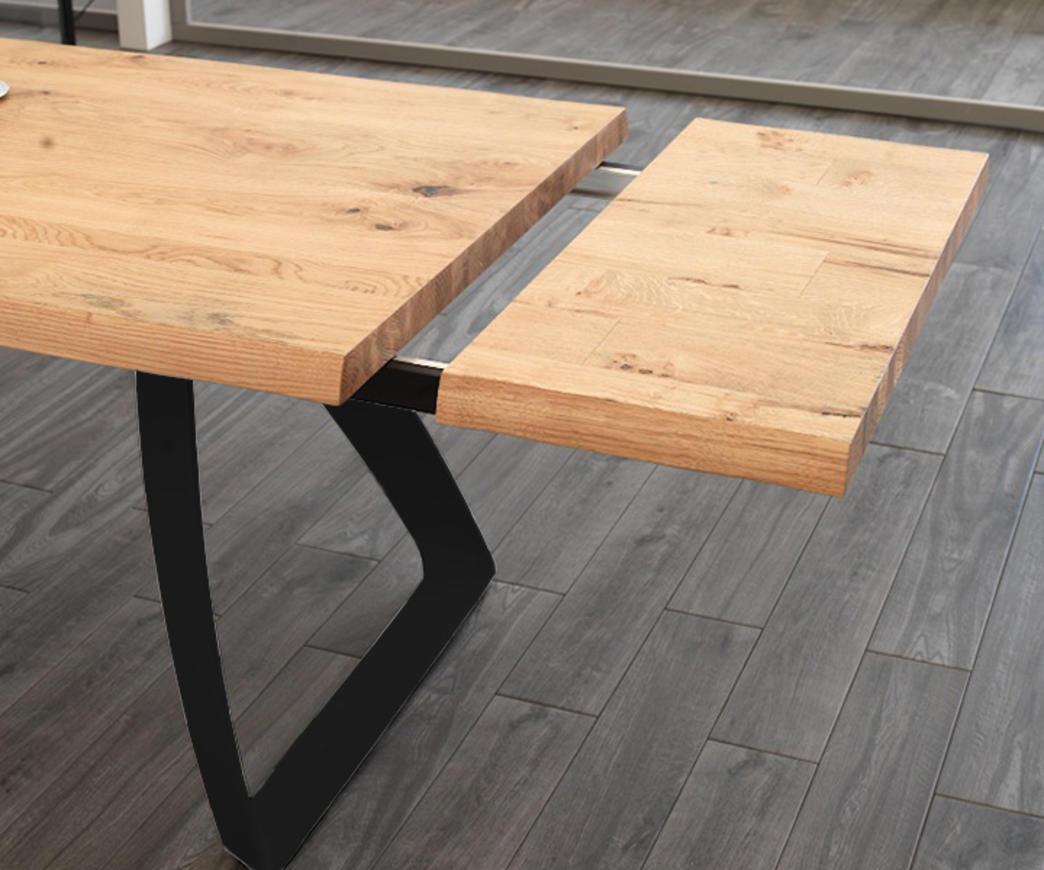 Tavolo da pranzo allungabile Bridge base nera (fino a 300 cm)
