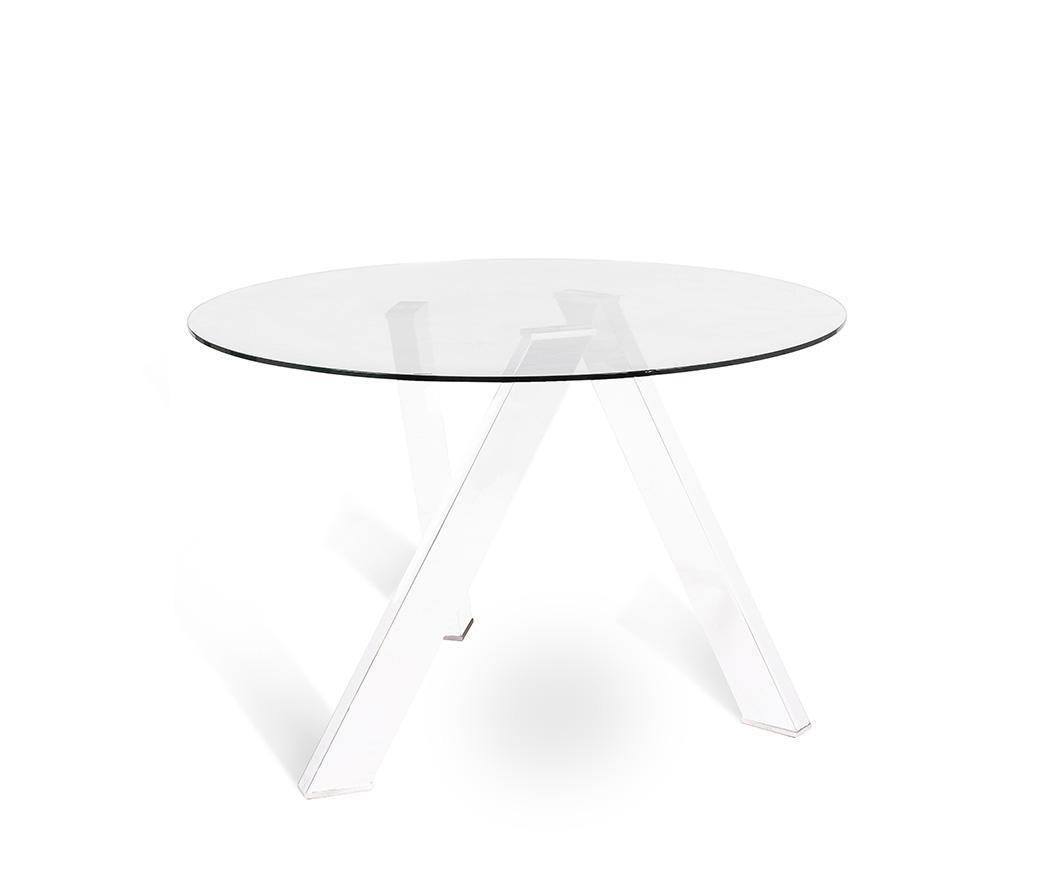 Tavolo in vetro rotondo RONDO\' di Stones OM/221/BI | Duzzle