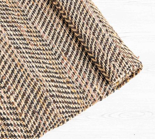 Duzzle tappeto juta pelle fatto a mano stones angolo