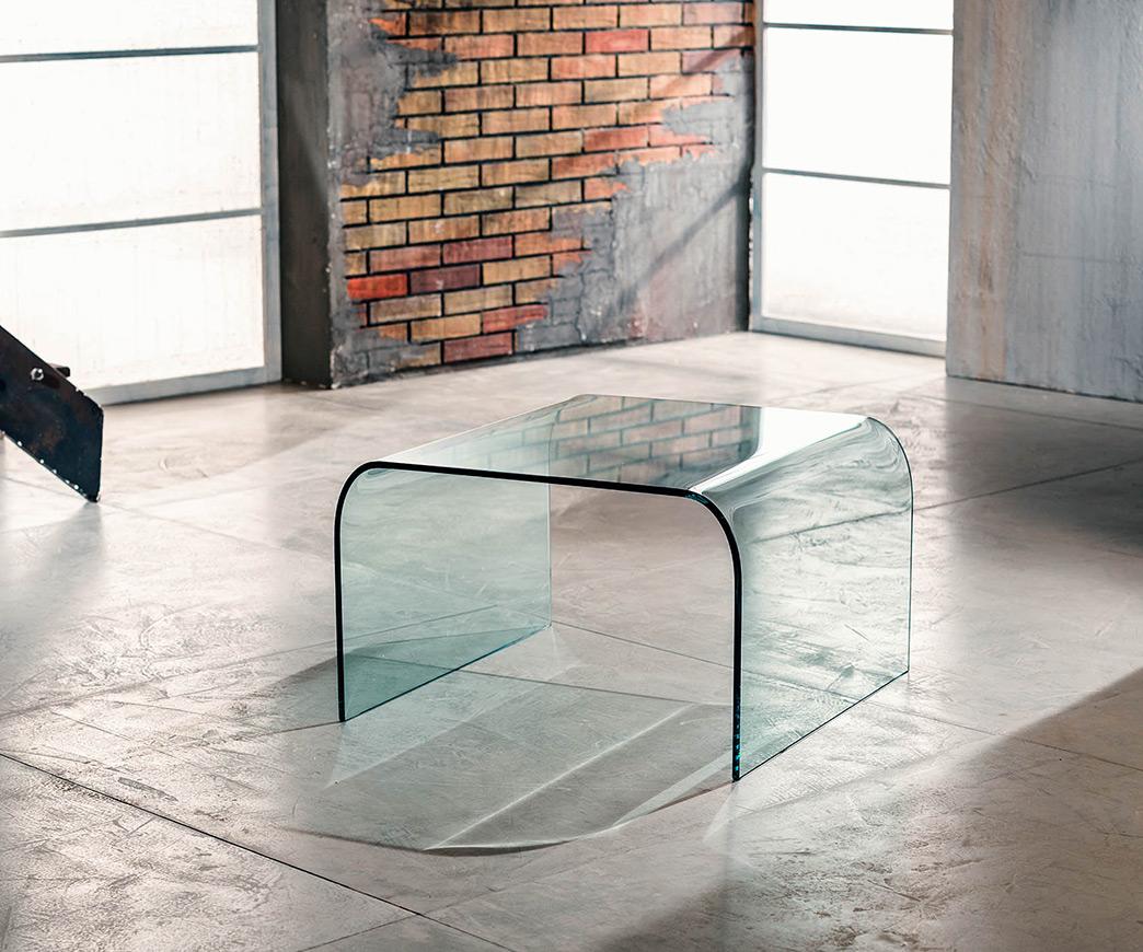 Tavolino a ponte in vetro brooklyn duzzle - Mobiletti in vetro ...