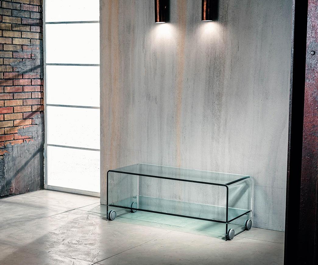 Tavolini In Vetro Porta Tv : Porta tv in vetro con ruote berlino duzzle