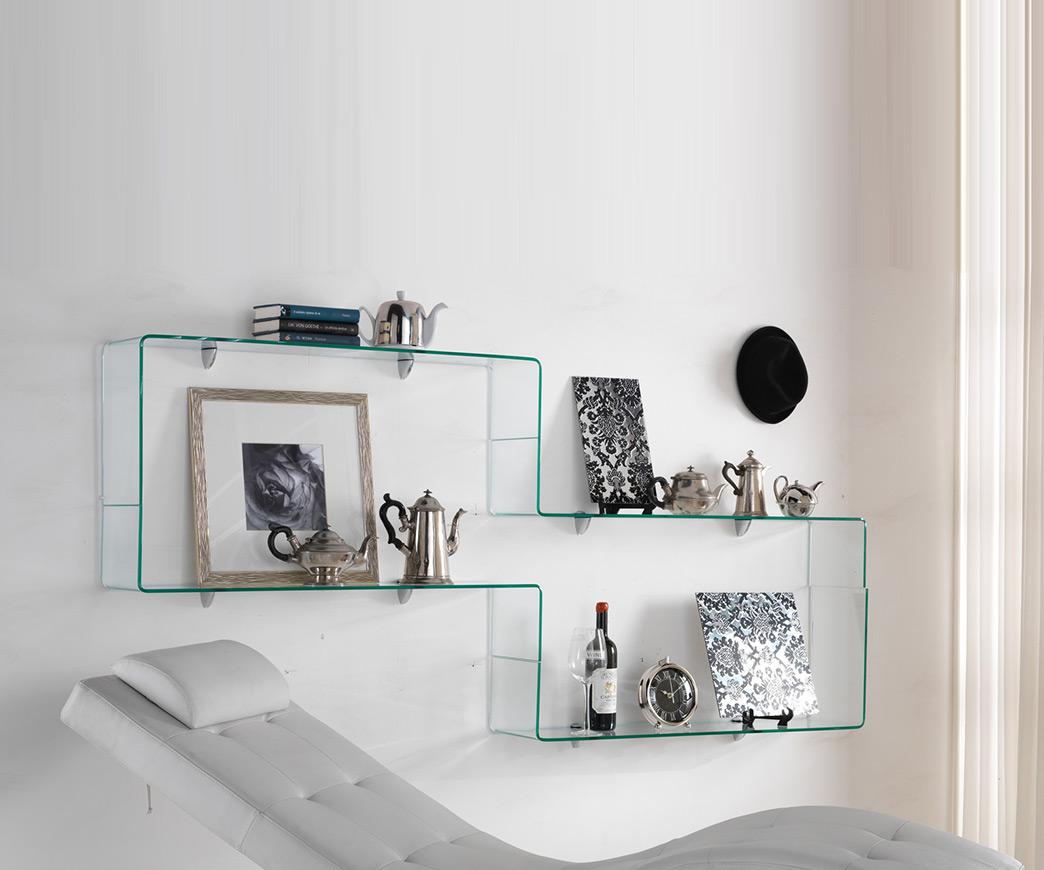 Libreria in vetro trasparente infinity duzzle - Mobiletti in vetro ...