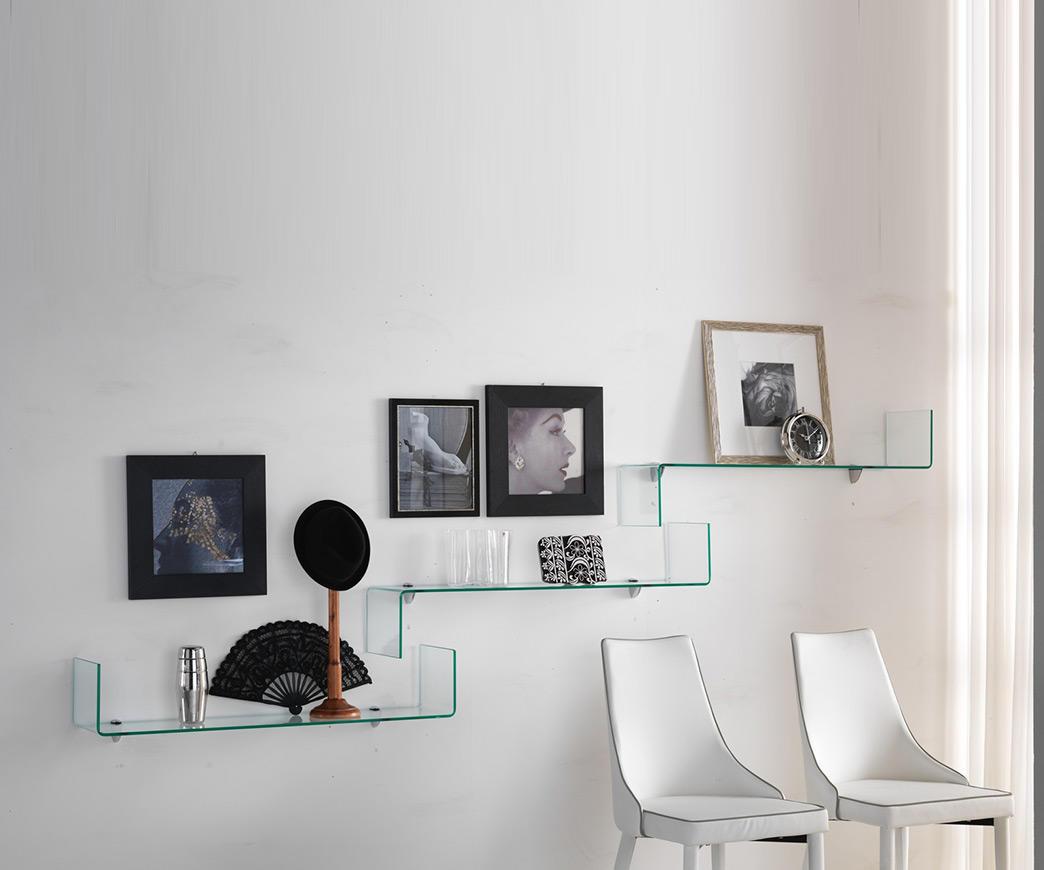 Mensole Di Vetro Prezzi.Libreria In Vetro Trasparente Stairway