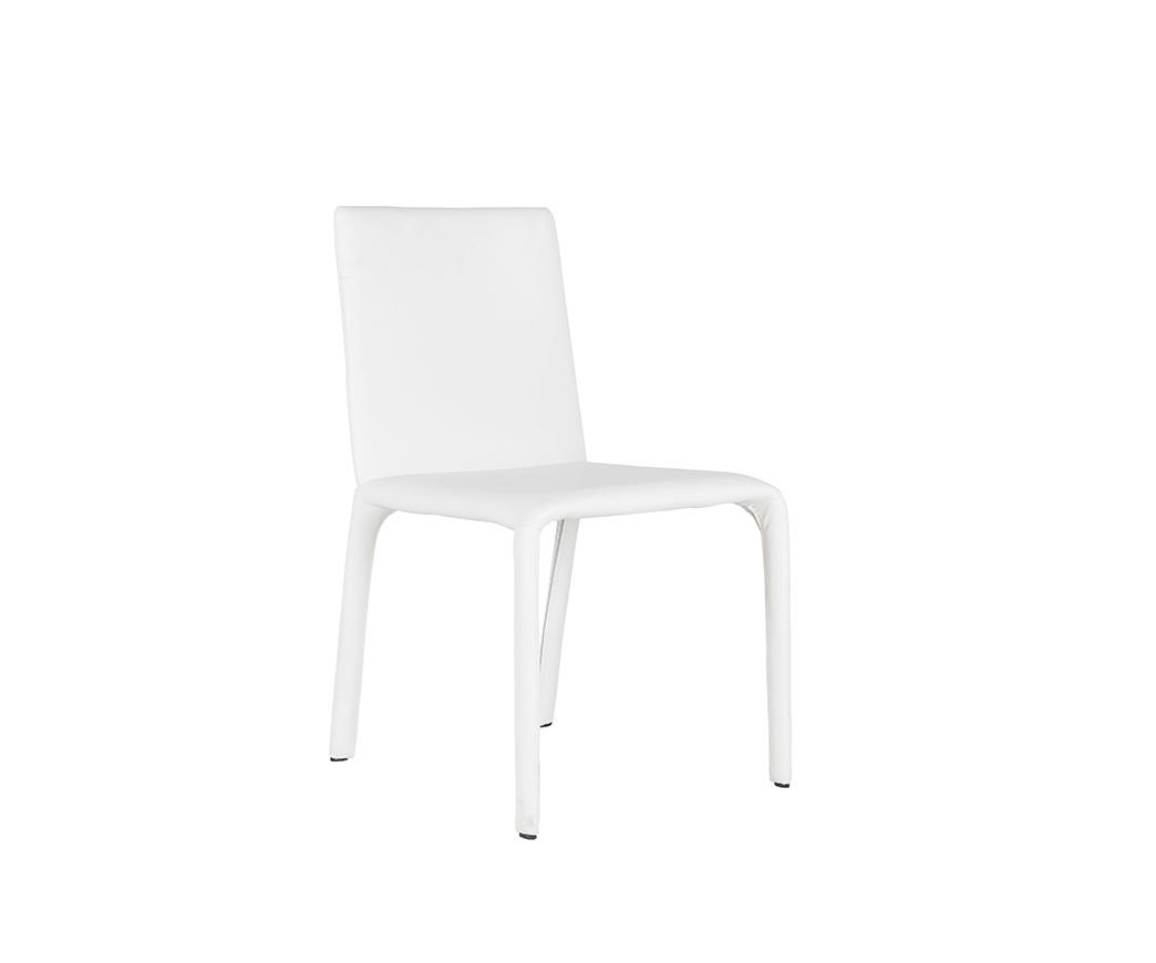 Sedia Dely in similpelle bianca OM 109 B