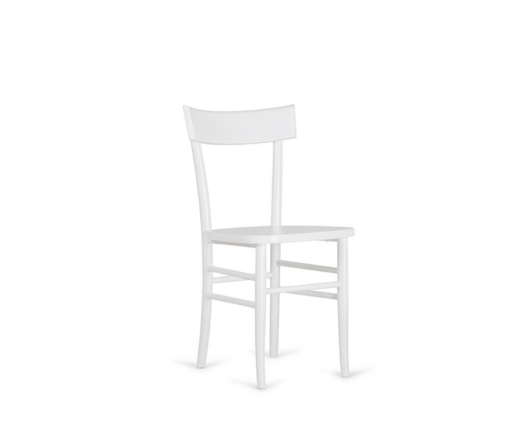 Sedia Brera in legno laccato bianco OM/230/BI di Stones   Duzzle
