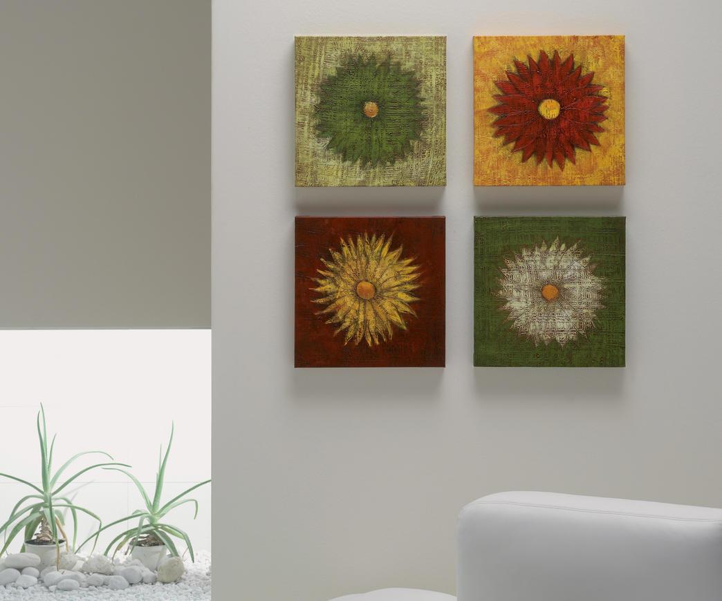 Set 4 dipinti con fiori | Duzzle